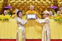 Chùa Giác Ngộ: Trang nghiêm lễ hằng thuận của Thanh Tuấn và Phương Anh