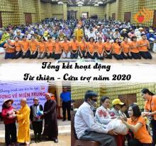 Tổng kết hoạt động từu thiện - cứu trợ năm 2020