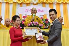 Lễ hằng thuận của Thanh Tùng và Phương Uyên tại chùa Giác Ngộ