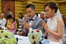 Chùa Giác Ngộ: Lễ hằng thuận của Minh Khánh và Thanh Thảo